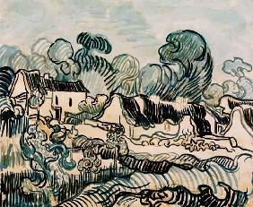 V.v.Gogh, Landscape w.Cottages / 1890