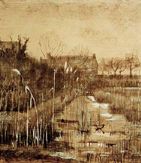 V.van Gogh, Ditch / Drawing / 1884