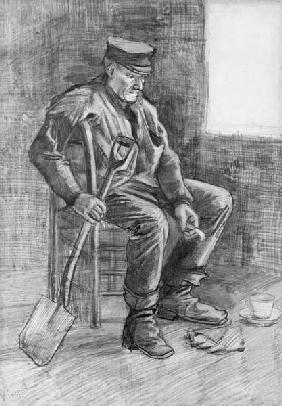 Man with a Spade Resting