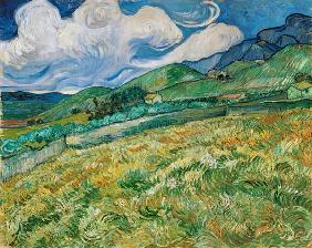 Berglandschaft hinter dem Hospital Saint-Paul, 1889