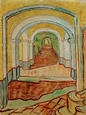 V. van Gogh, A corridor in the Asylum.