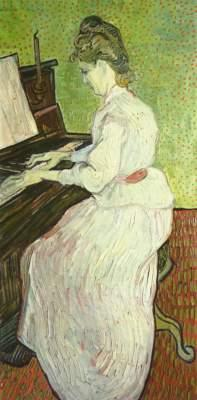 Mademoiselle Gachet at the piano