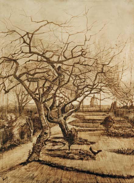 v.Gogh, Parsonage Garden in Nuenen/Draw.