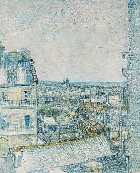 View from the Artist''s Window, rue Lapic, 1887 (oil & pencil on board)