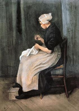v.Gogh/Seamstress from Scheveningen/1881
