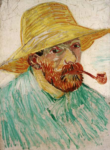 van Gogh, Self-Portrait w.Straw Hat/1888