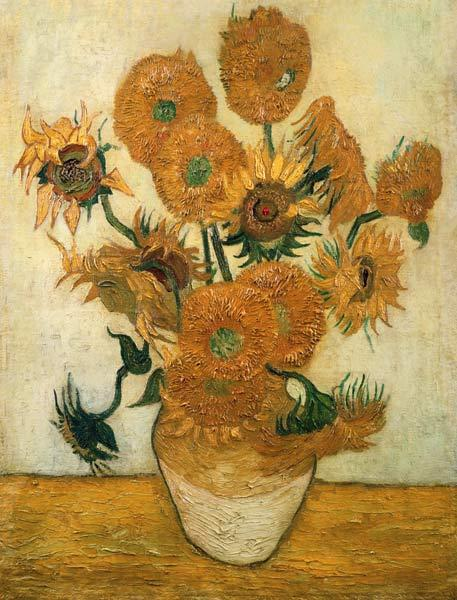 14 Sunflowers in a vase 1889