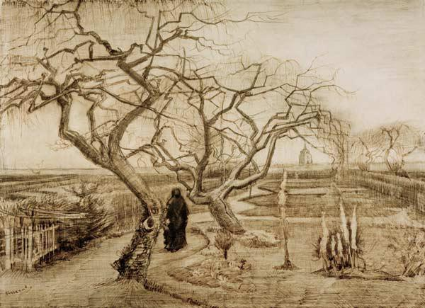 V.van Gogh, Winter Garden / Draw./ 1884