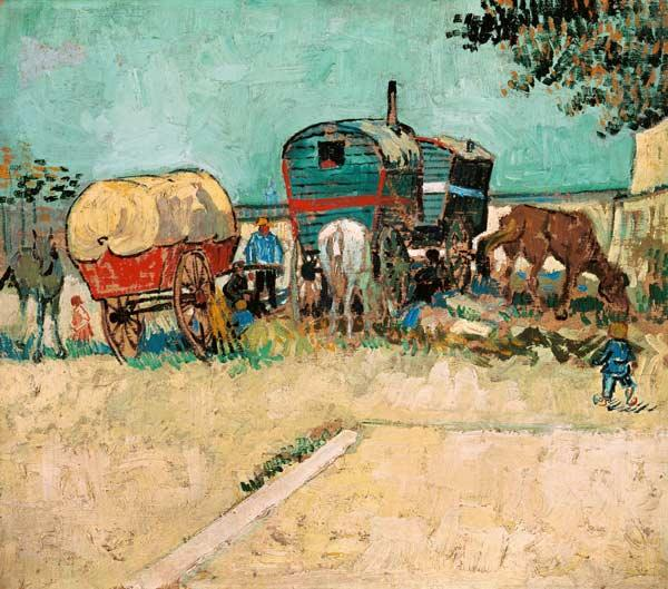 The Caravans, Gypsy Encampment near Arles