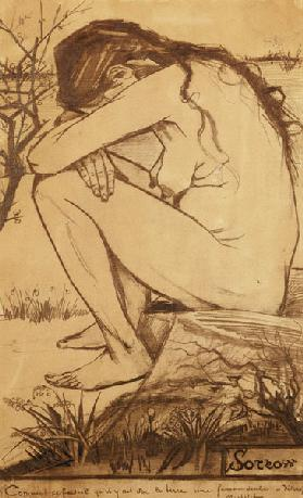 Sorrow, 1882 (pencil, pen and