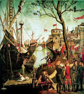 Arrival of Saint Ursula in Cologne During the Siege by the Huns (The Legend of Saint Ursula)