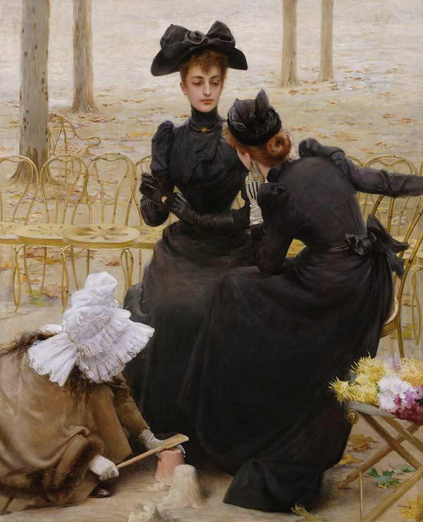 Conversation in the Jardin du Luxembourg