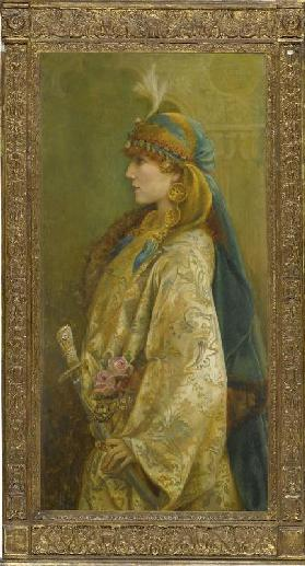 "Portrait of Sarah Bernhardt as Roxanna in ""Adrienne Lecouvreur"""