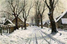 Walter Moras - Winter in the village