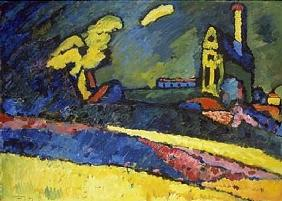 Murnau, landscape with church I.