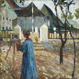 Gabriele Münter when painting in Kallmünz.
