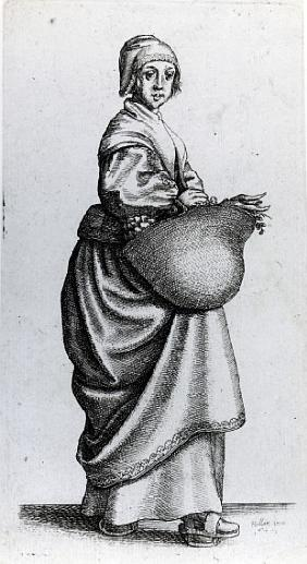 Maid returning from market