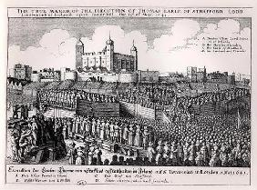 The Execution of Thomas Wentworth (1593-1641) Earl of Strafford, Tower Hill, 12th May 1641 (engravin