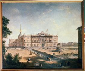 View of the Michael Palace and the Connetable Square in St. Petersburg