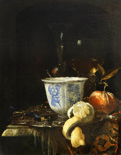 Still life with a Chinese porcelain bowl