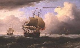An English Ship Close-hauled in a Strong Breeze