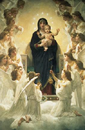 The St. virgin, surrounded by angels