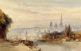 View of Rouen on the Seine