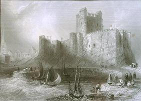 Carrickfergus Castle, County Antrim, Northern Ireland, from 'Scenery and Antiquities of Ireland' by