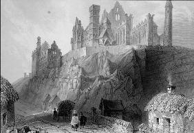 The Rock of Cashel, County Tipperary, Ireland, from 'Scenery and Antiquities of Ireland' by George V