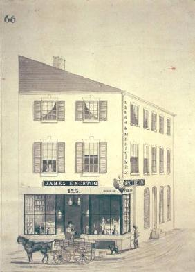Apothecary shop of James Emerton in Salem