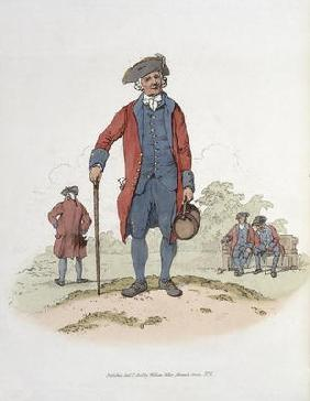 Chelsea Pensioner, from 'Costume of Great Britain', published by William Miller, 1805 (colour litho)