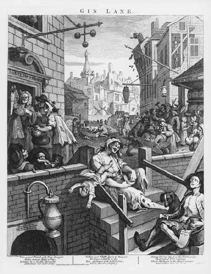 Hogarth, William : W.Hogarth, Gin Lane