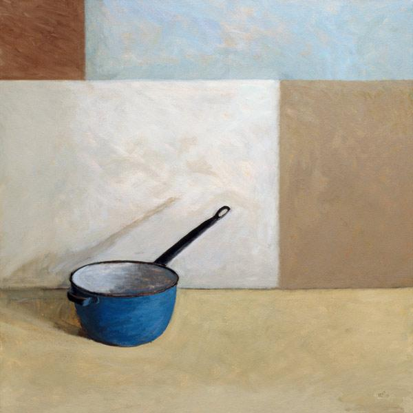 Blue Saucepan (oil on canvas)