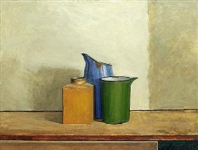 Three Tins Together (oil on board)