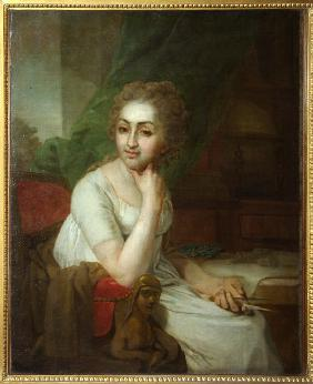 Portrait of an Unknown Woman with Compass in her Hand (Praskovia Golitsyna?)