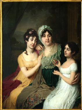 Portrait of Countess Anna Bezborodko with her daughters Lyubov and Cleopatra
