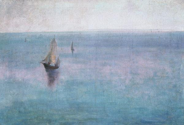 Sea landscape with sailing boats